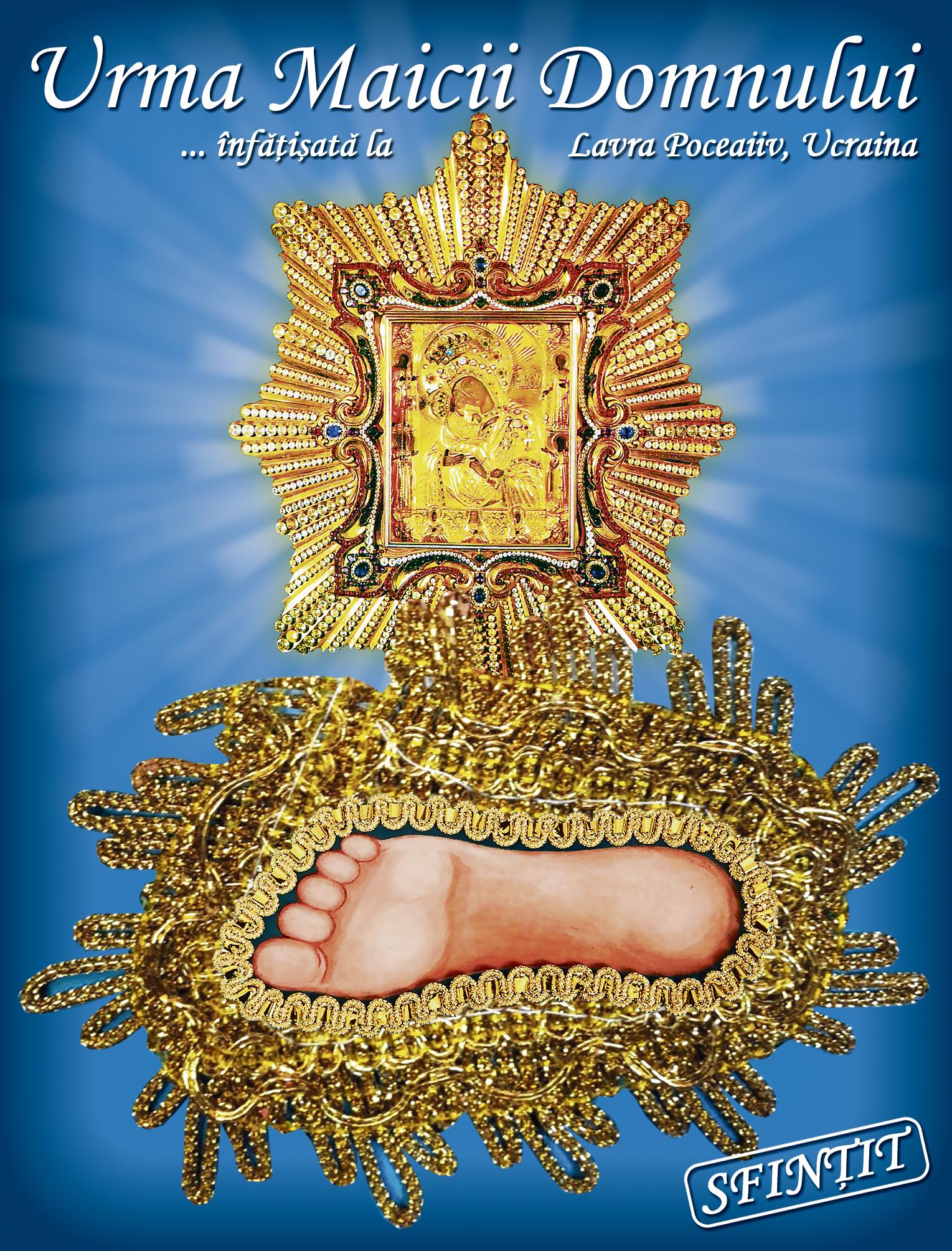 """Aceasta este """"Urma Maicii Domnului"""" pe care o vei primi cu revista TAIFASURI din 18 aprilie! Sfințită de preotul Dumitru Ungureanu din parohia Crevedia"""