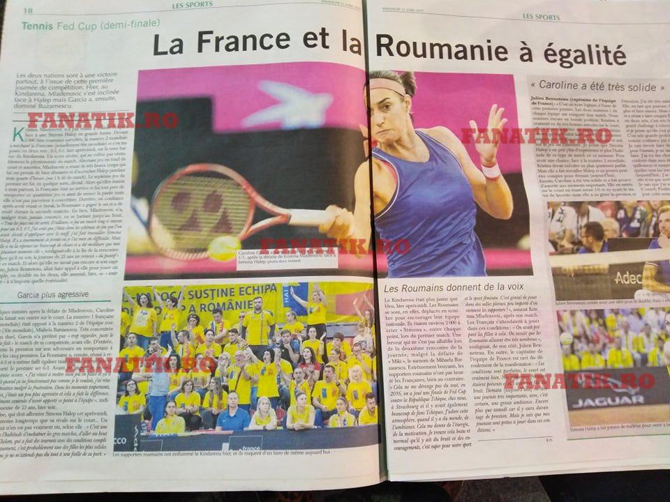 Franţa - România nu a prins prima pagină din L'Equipe