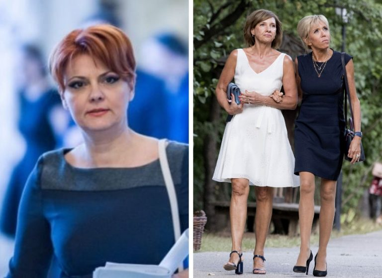 Carmen Johans has made PRAF by Olguta Vasilescu. Manda's wife, the shine of the president's wife: a pink dress over her knee ...