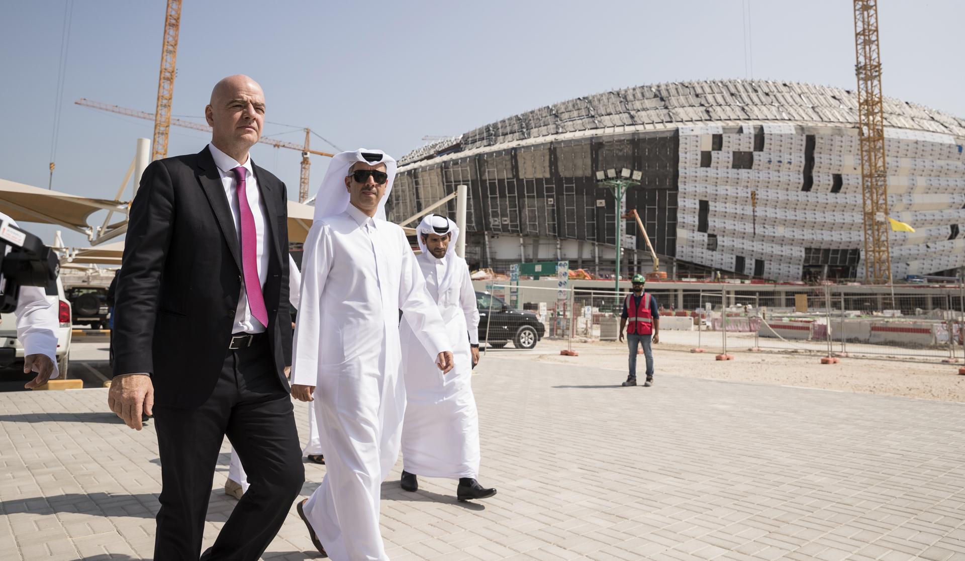 Gianni Infantino în vizită în Qatar pentru a vedea care este stadiul lucrărilor