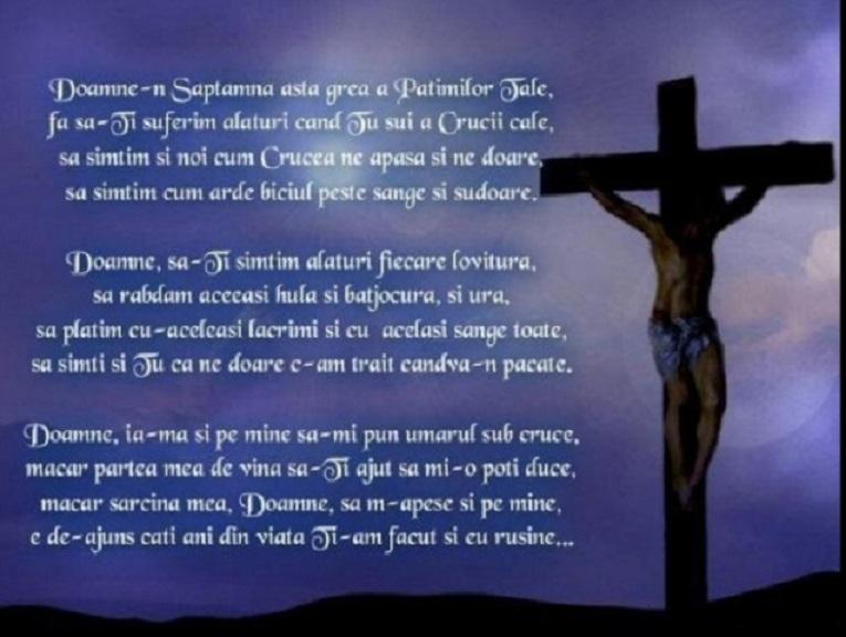 Rugăciune de spus în Vinerea Neagră din Săptămâna Patimilor, ziua răstignirii Mântuitorului Iisus Hristos