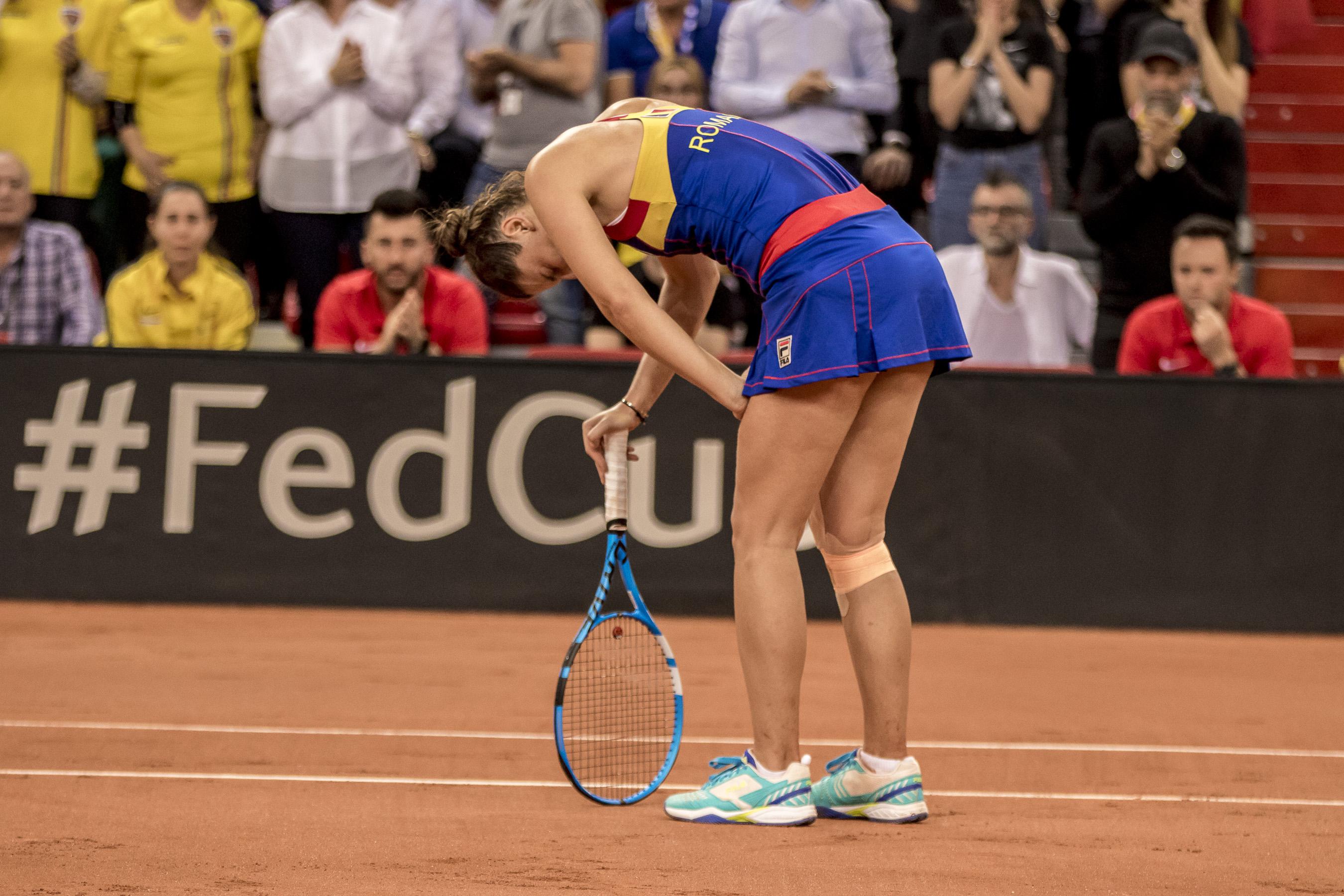 Momentul în care Irina Begu a resimțit dureri după ce a călcat strâmb în meciul cu Pauline Parmentier