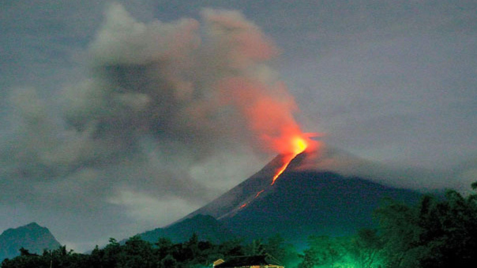 Vulcanul Agung a erupt!