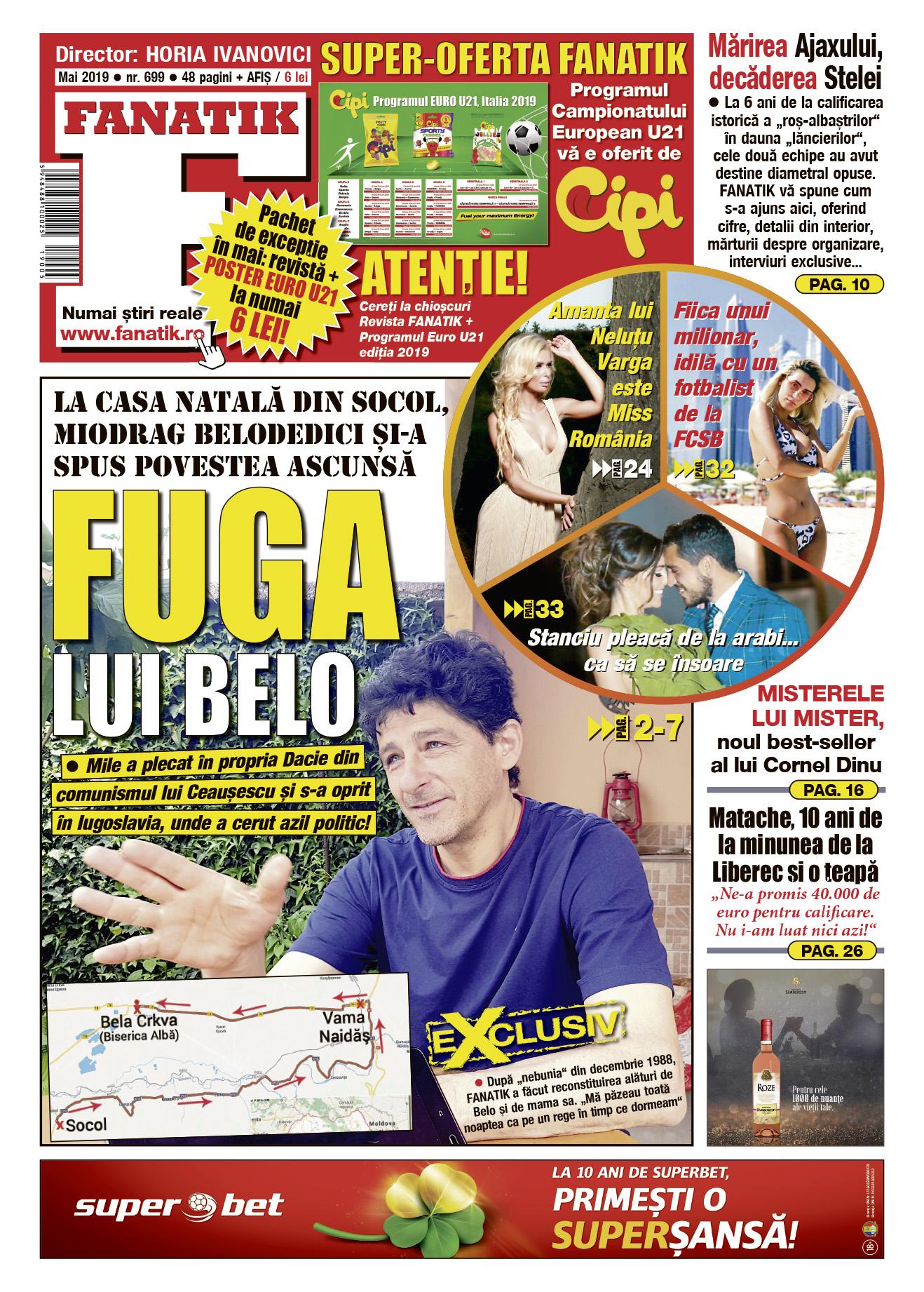 Revista FANATIK de mai vă oferă, ca de obicei, 48 de pagini de subiecte tari, majoritatea în exclusivitate. Plus un poster cu programul CE U21! De vineri, 24 mai, la toate chioșcurile de difuzare a presei!