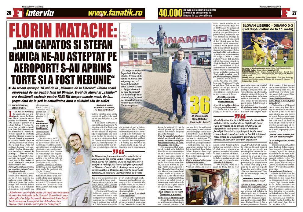 """10 ani după """"Minunea de la Liberec"""" eroul lui Dinamo se destăinuie. Amintiri dulci și amare, dezvăluite în premieră de portarul Florin Matache. De la promisiuni la țepe..."""