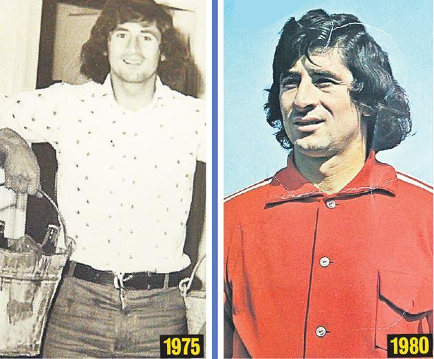 """""""Mister"""" Cornel Dinu a fost și el tânăr... Pe atunci era numărul 1 și pe teren, și la șpriț. Sursa foto: libertatea.ro"""