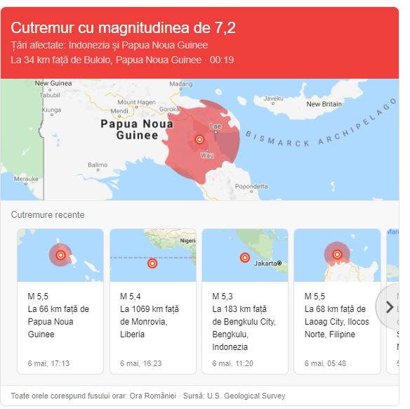 Cutremur de 7,2 grade în Papua Noua Guinee! Anunțul autorităților privind pagubele