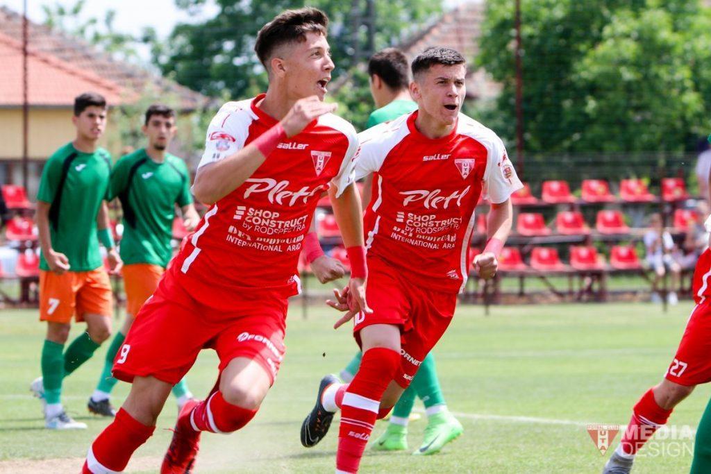 David Miculescu se bucură după un gol marcat