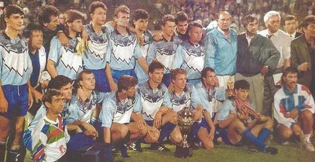 Gică Craioveanu alături de colegii din generaţia de la Universitatea Craiova de la începutul anilor 1990