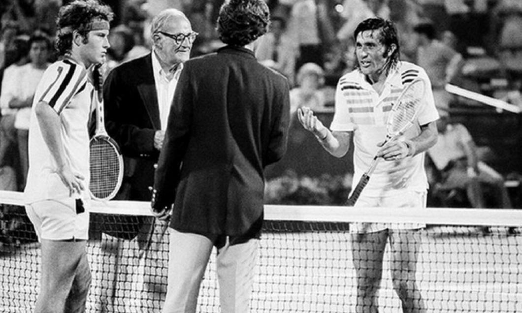 John McEnroe și Ilie Năstase, la meciul din 1979 de la US Open