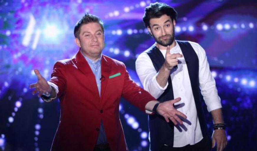 Pavel Bartoș și Smiley invită lumea la vot, în direct la Românii au Talent, la Pro TV. Bartos și Smiley
