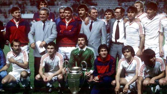 Steaua 1986 după câştigarea Cupei Campionilor Europeni