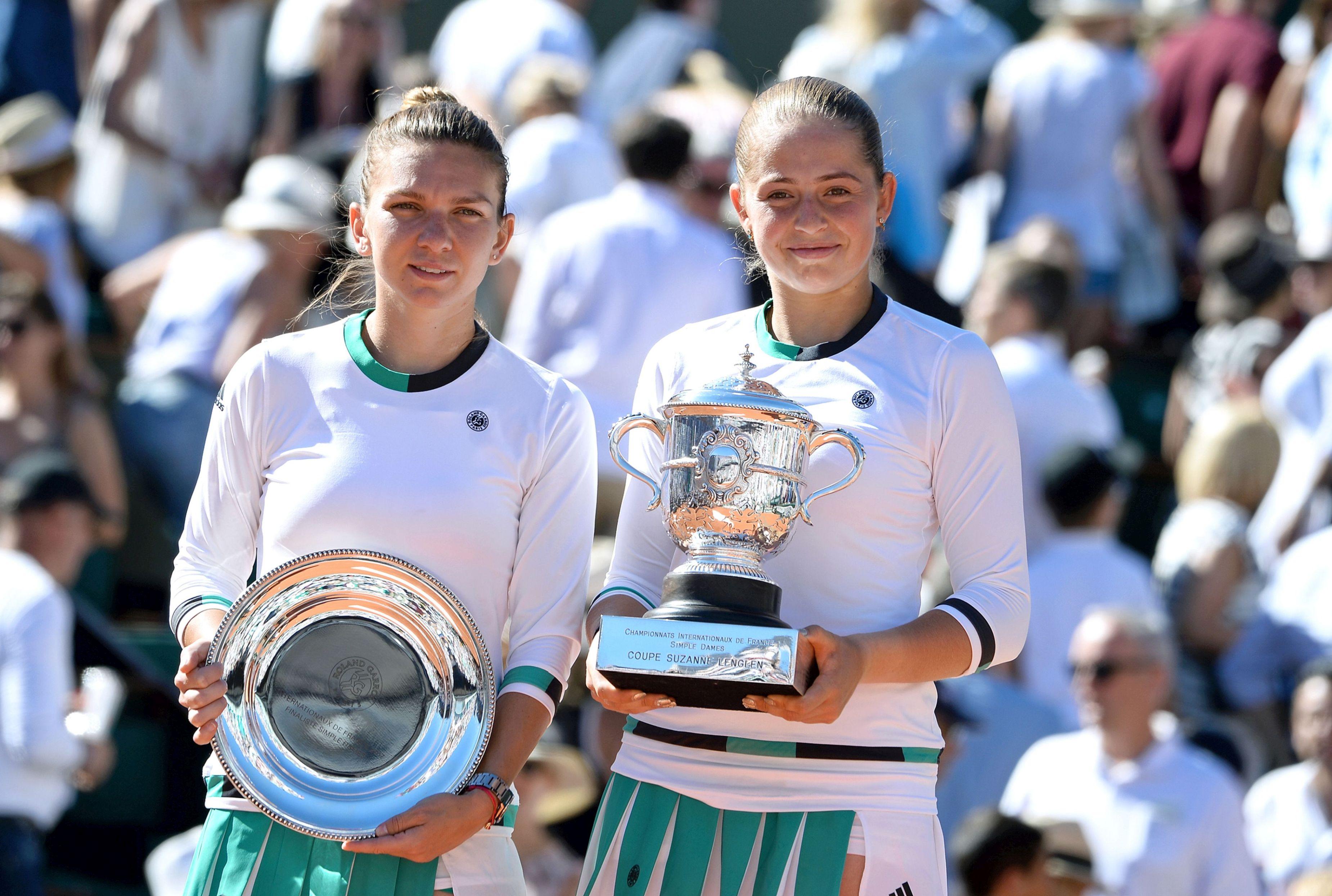 Simona Halep, Jelena Ostapenko - Internationaux de france de tennis de Roland Garros 2017 - Finale dames 10 juin 2017