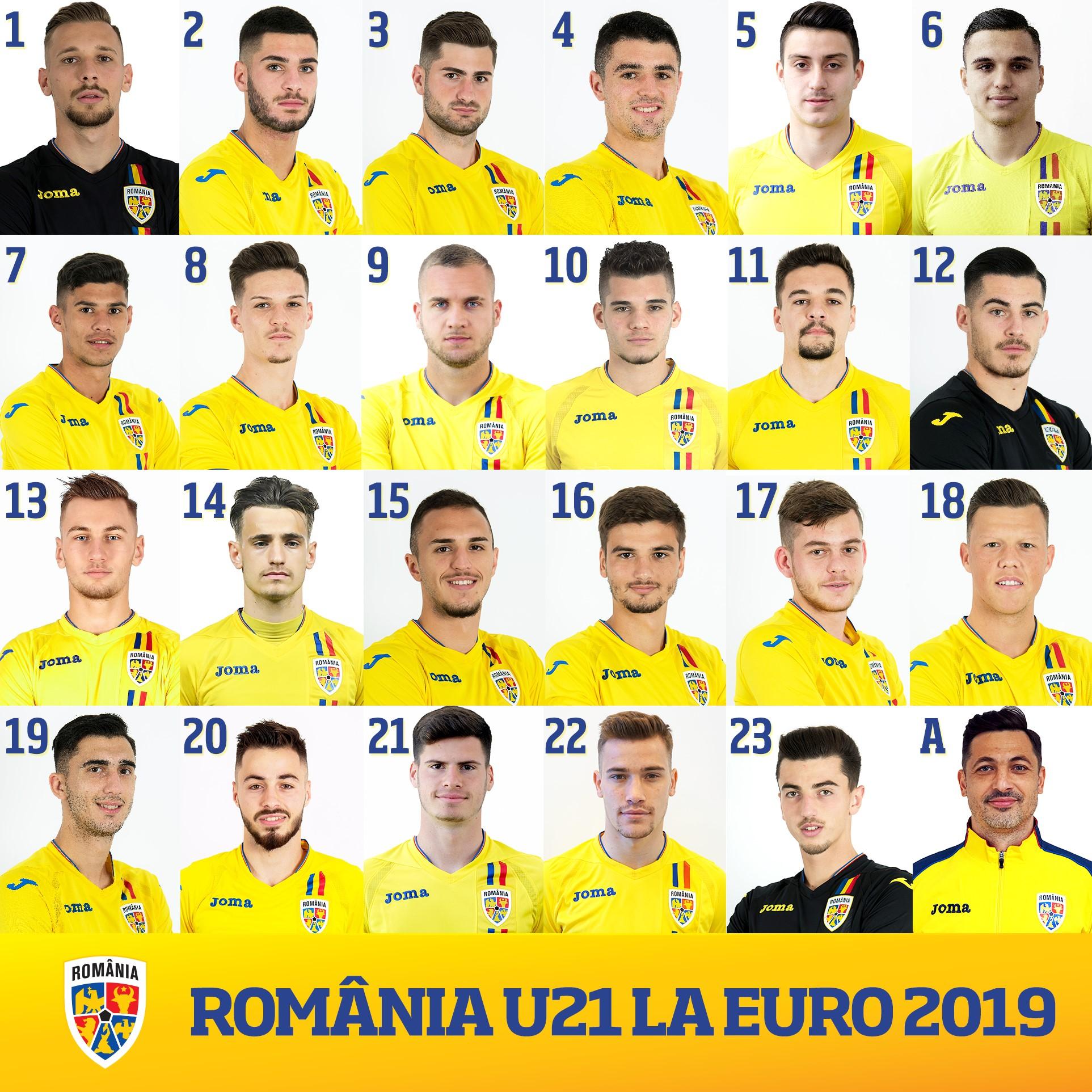 Tricolorii şi-au ales numerele de pe tricou pentru EURO 2019