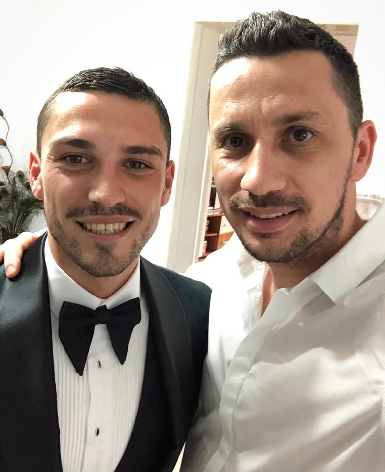 Nicușor Stanciu, alături de Flick, cunoscut și ca Domnul Rimă. Sursa foto:Facebook