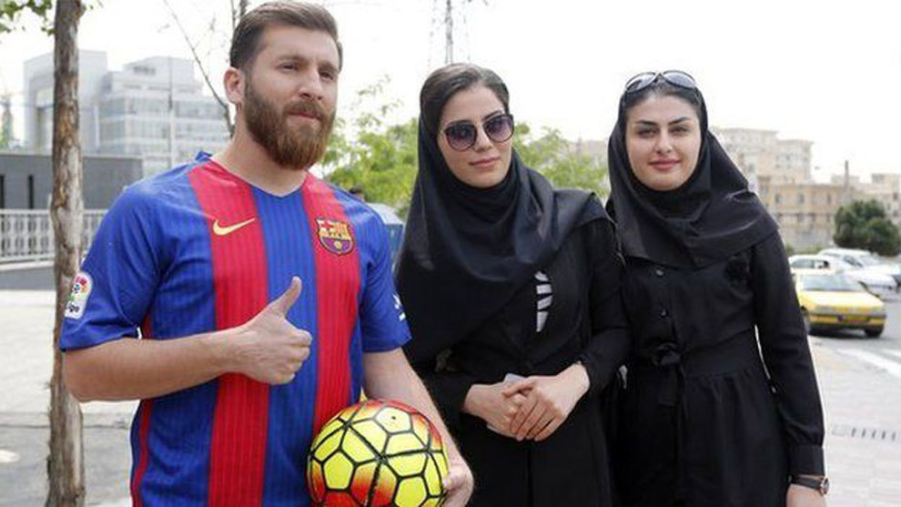 Un iranian care seamănă izbitor cu Messi a fost denunțat de 23 de femei pe care le-a păcălit să se culce cu el! Falsul Messi și două tinere