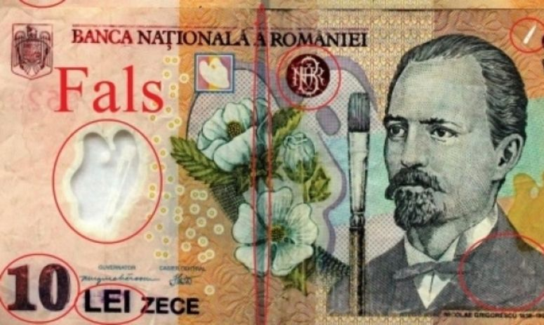 Bani falși în România! Bancnote