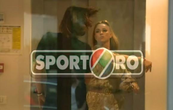 Momentul în care Dan Alexa este lovit de Anamaria Prodan (sursa: sport.ro)
