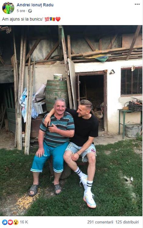 Ionuţ Radu nu şi-a uitat bunicii după EURO U21