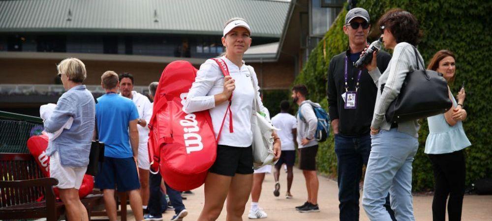 Sambata si duminica Darren Cahill a asistat-o pe Simona Halep la antrenamentele de la Wimbledon