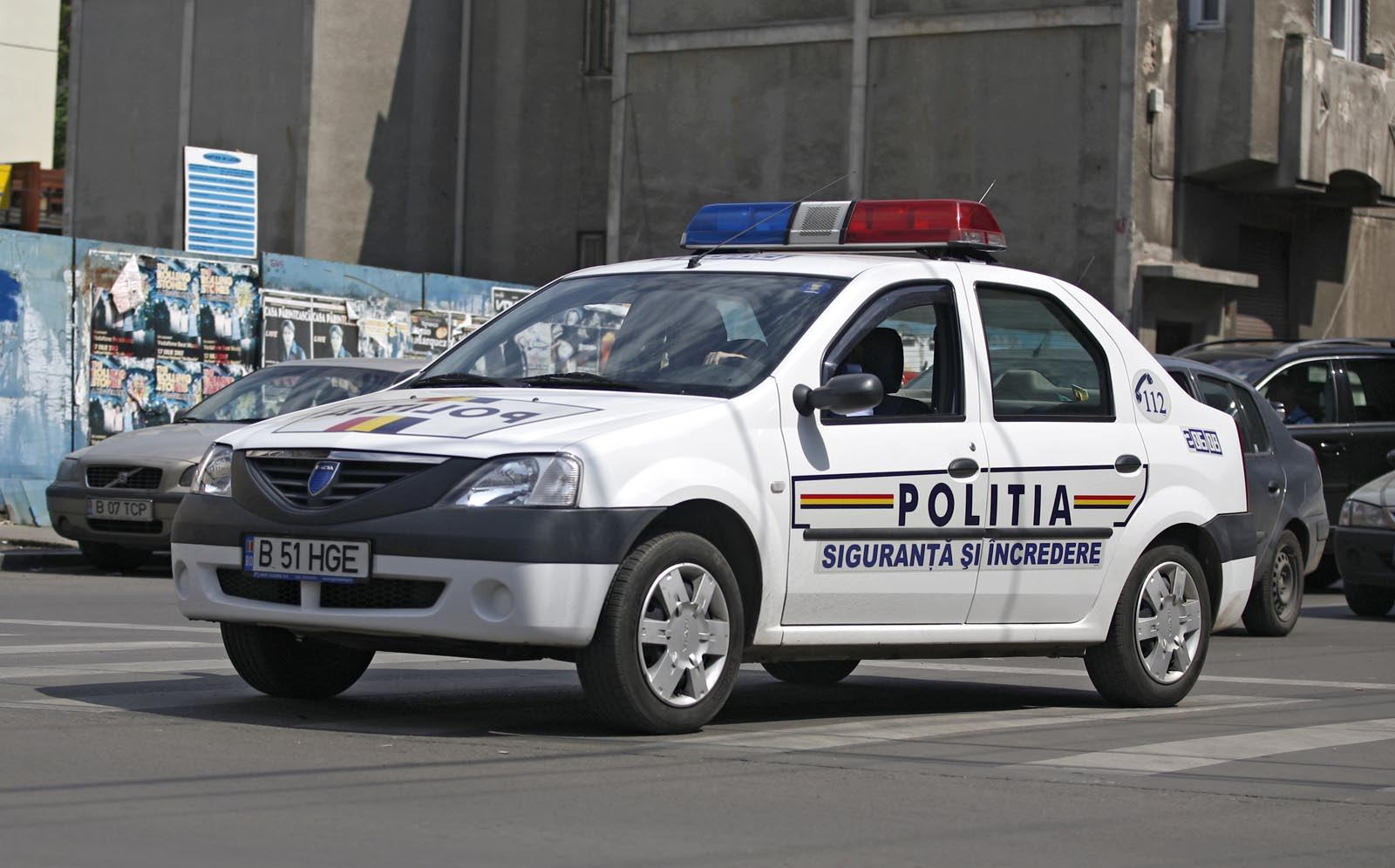 Accident cu mașina de poliție la Ploiești