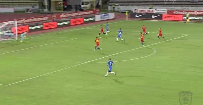 Cătălin Ţîră a marcat cel mai rapid gol al sezonului în FCSB - FC Voluntari (sursă foto: Telekom Sport)