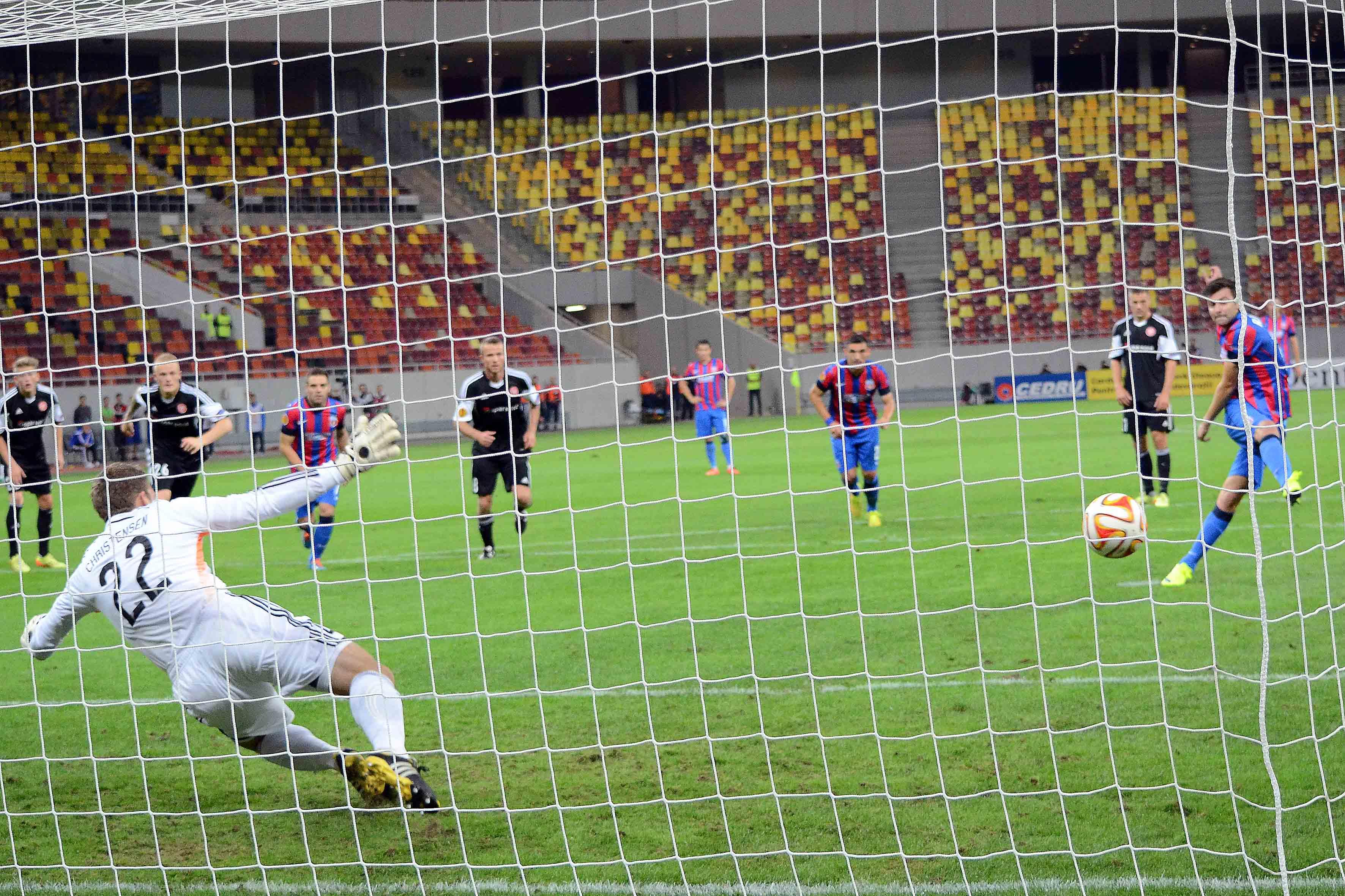 FCSB a umilit-o pe Aalborg într-un meci fără spectatori (sursă foto: sportpictures.eu)