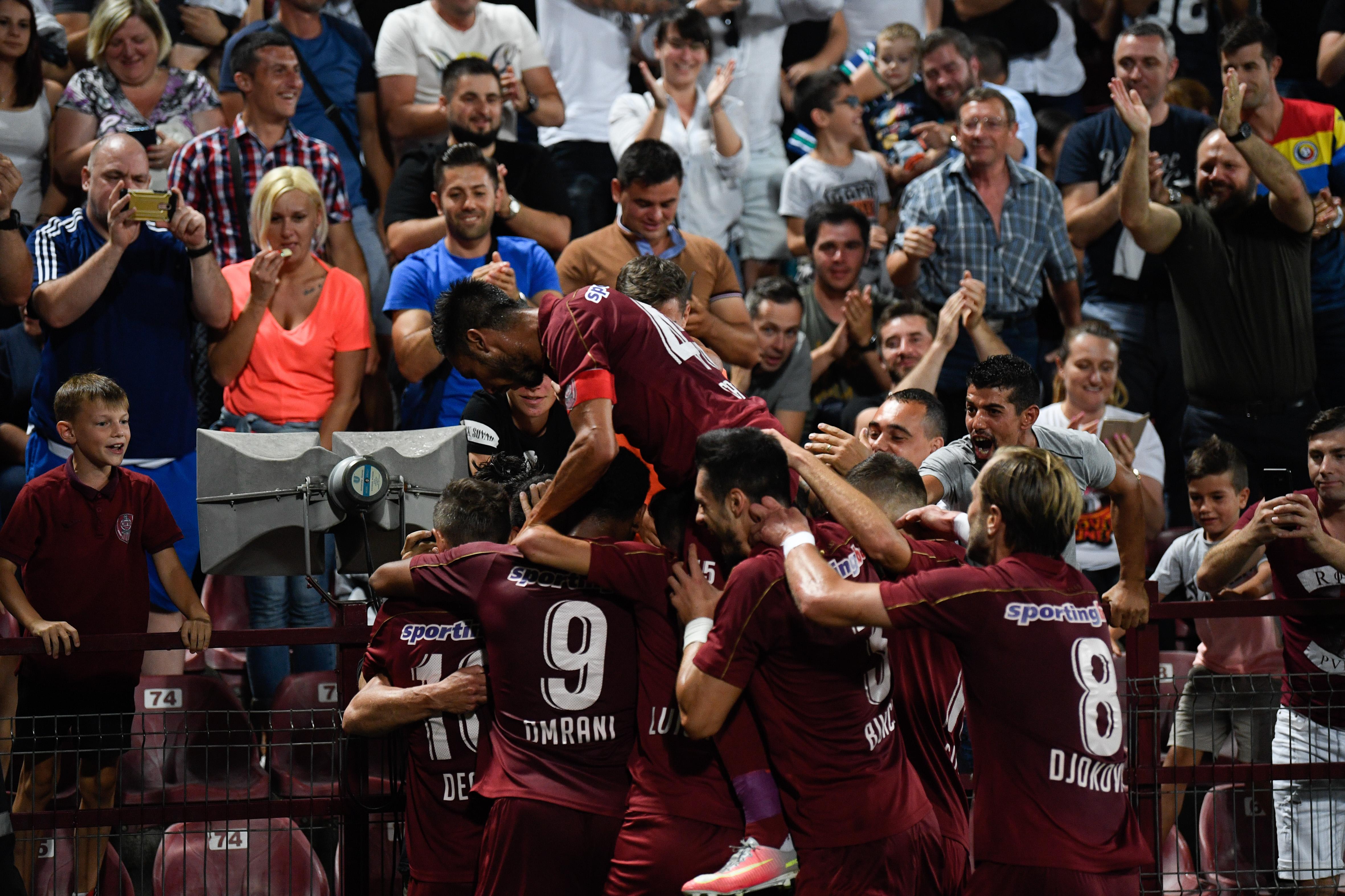 CFR a reușit calificarea în play-off-ul Ligii Campionilor. Sursă Foto: Sportpictures.eu