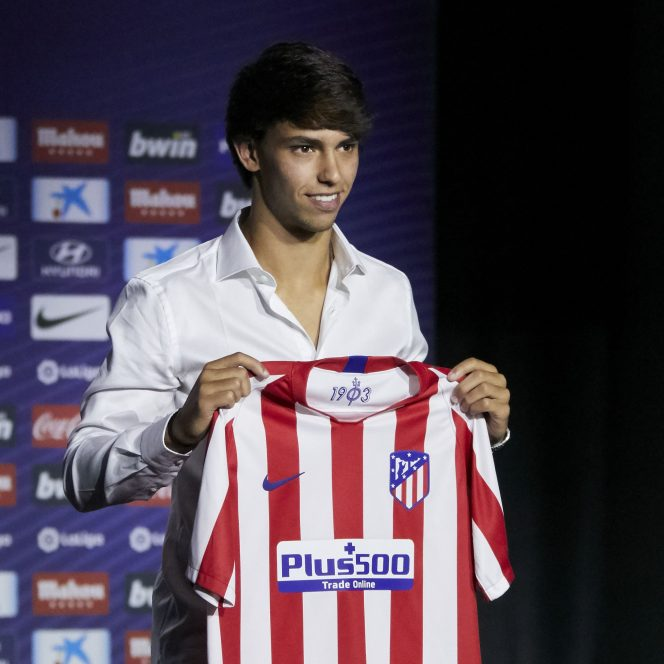 Joao Felix la prezentarea oficială a lui Atletico Madrid