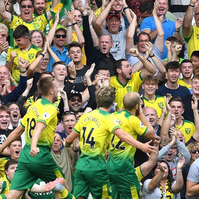 Bucuria jucătorilor de la Norwich