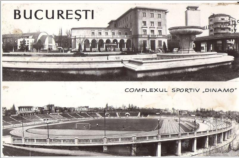 Stadionul Dinamo în 1956, la 4 ani după inaugurarea din 14 octombrie 1951.Nu s-au schimbat prea multe încă 64 de ani, până în 2019. Sursa foto: public.fotki.com