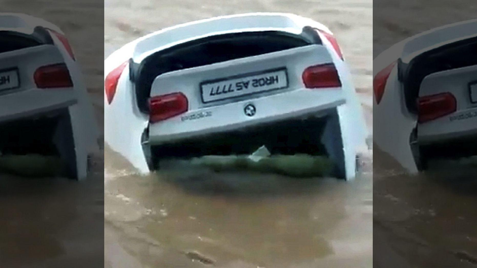 O beizadea cu pretenții și-a aruncat în lac BMW-ul primit cadou de la părinți. Mașina