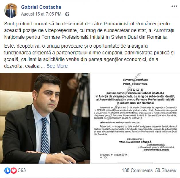 Șoferul fostului ministru Victor Negrescu a ajuns subsecretar de stat