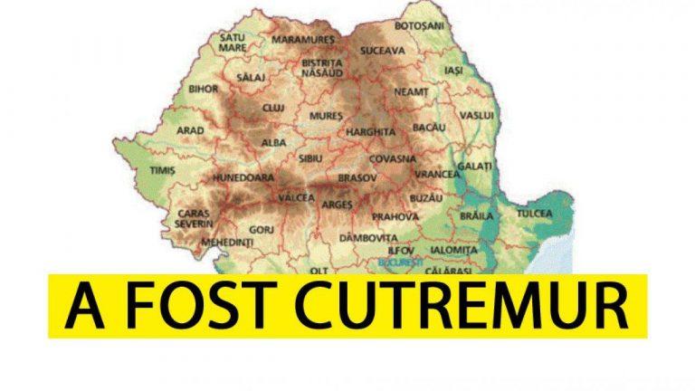 ALERTA! Cutremur in Romania! Seismul a avut loc in urma cu putin timp