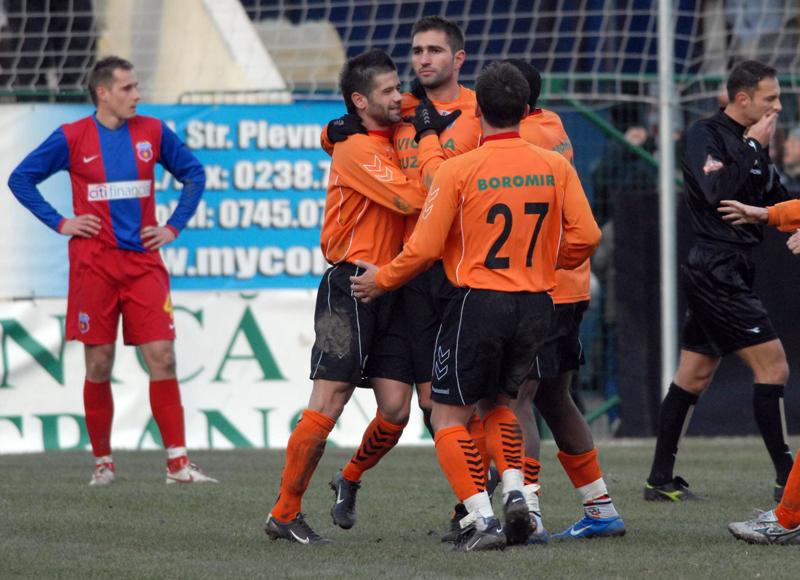 Romeo Bunică marca golul egalizator la Buzău. Sursă Foto: Sportpictures