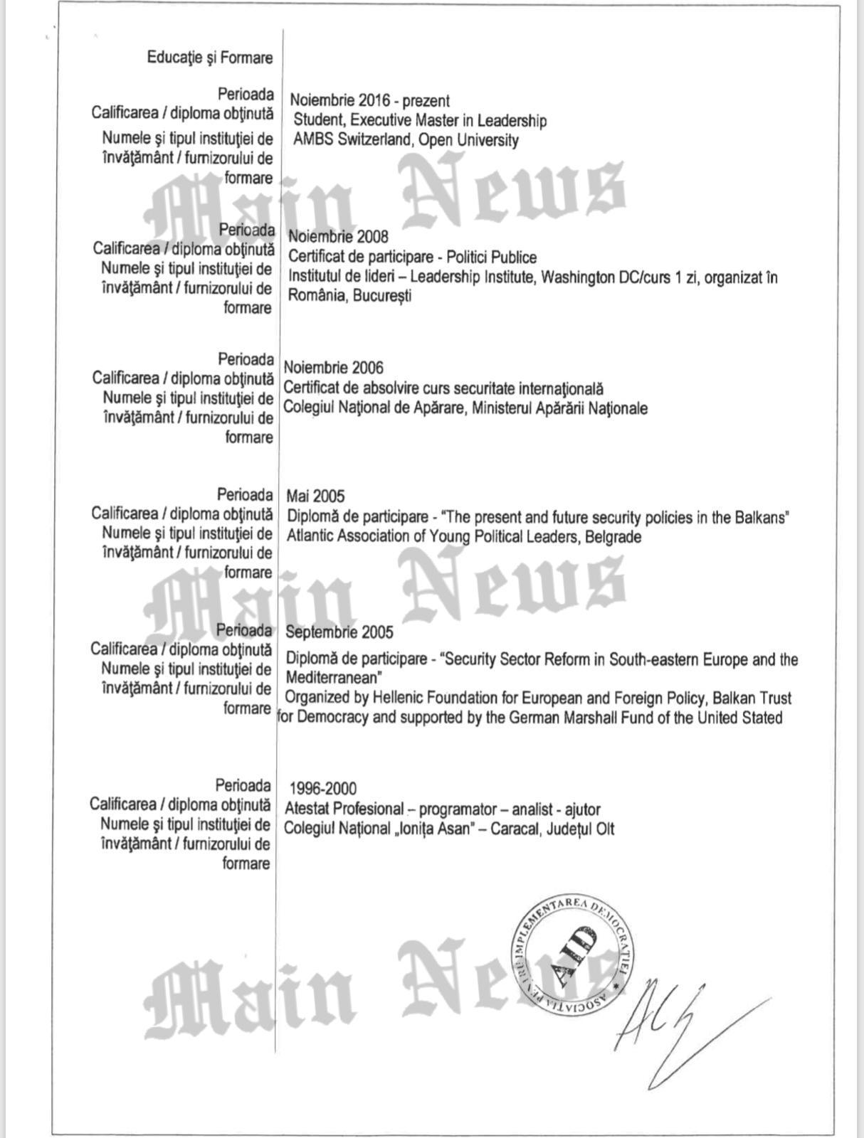 Cum arată CV-ul lui Alexandru Cumpănașu