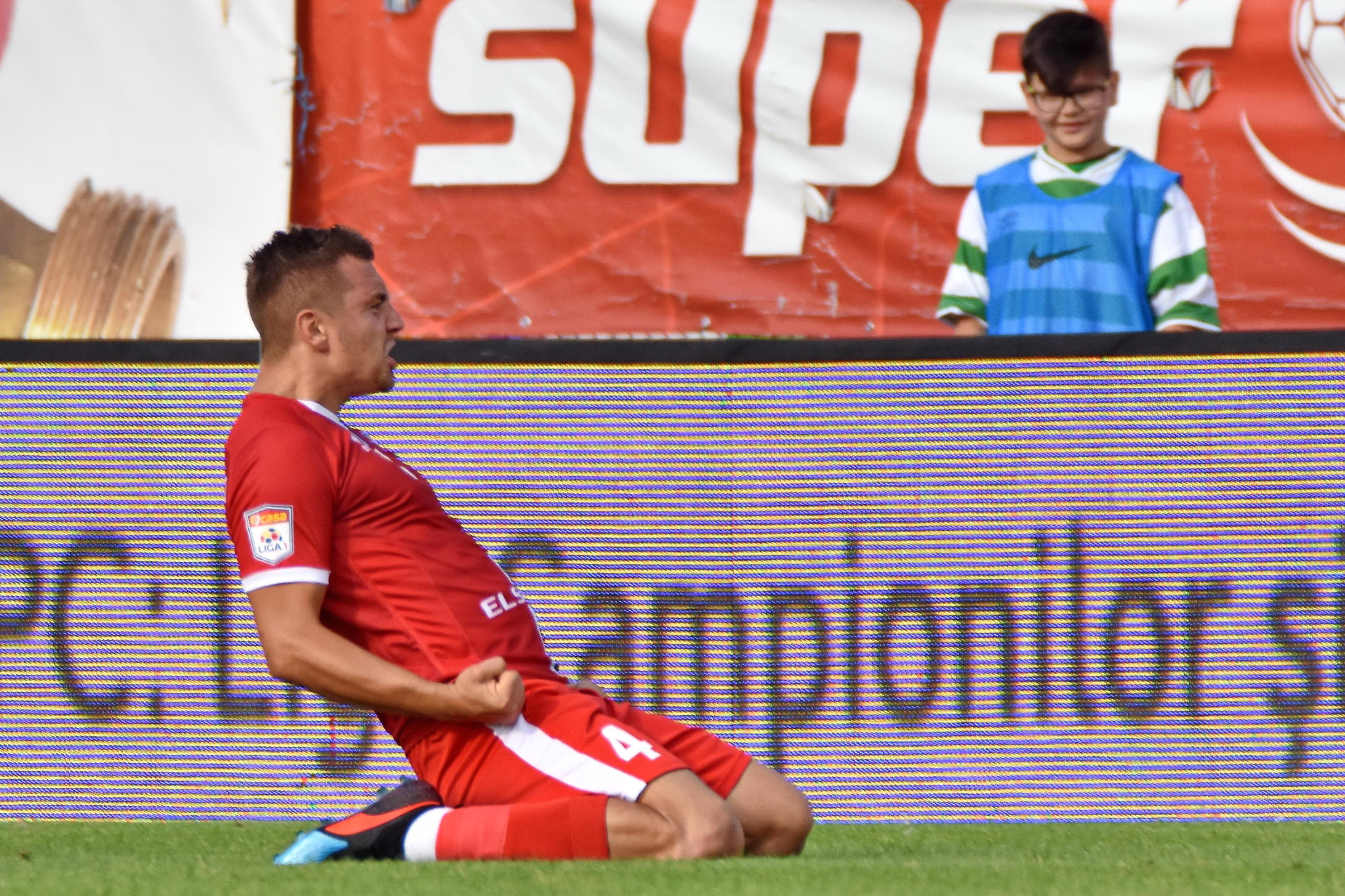 George Miron se bucură după o victorie a celor de la FC Botoșani cu FC Voluntari. Sursă foto: sportpictures.eu