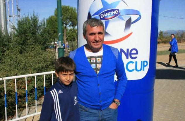 George Merloi, alături de Gică Hagi la Cupa Hagi Danone. sursa foto: Facebook.com