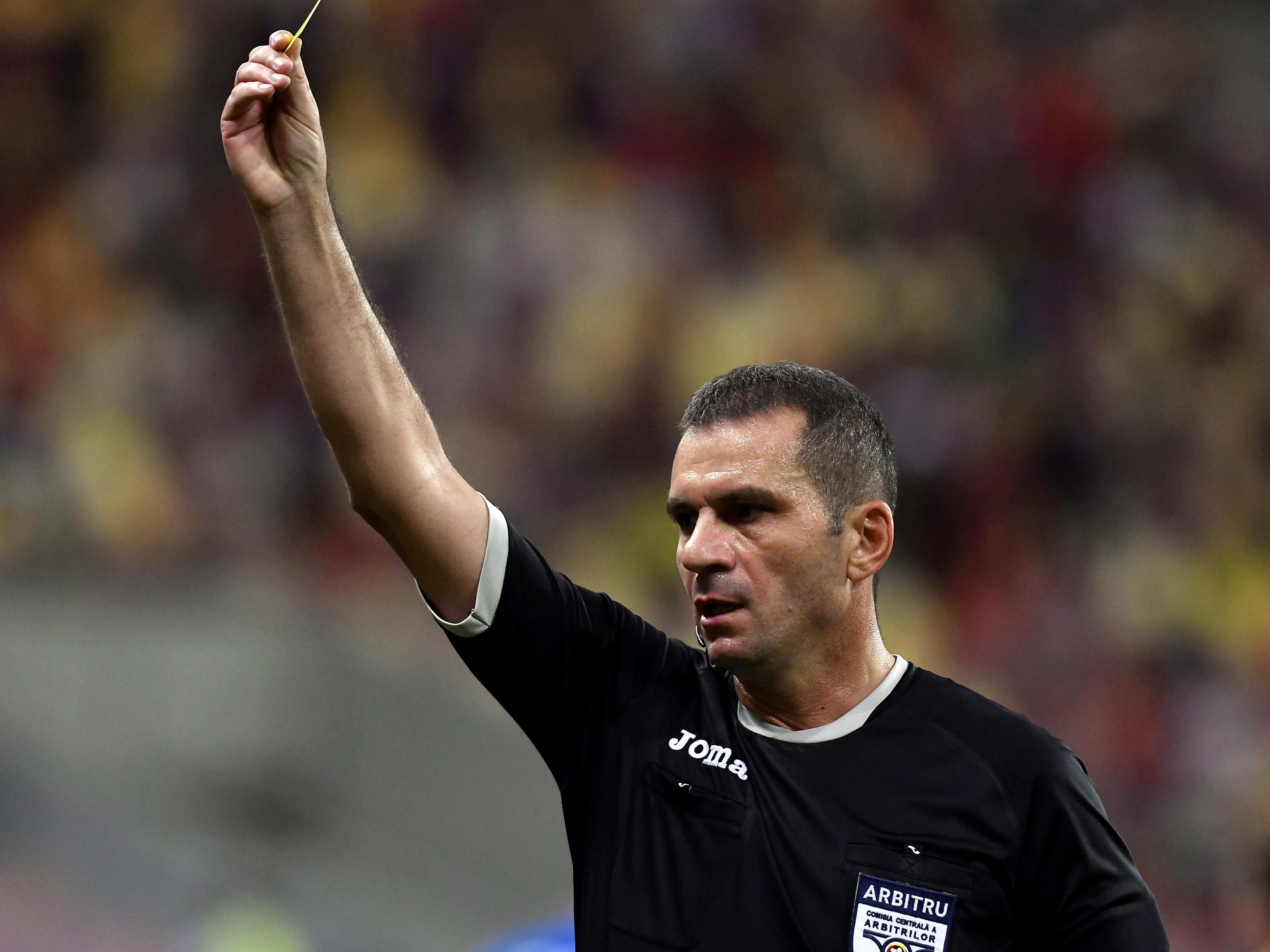 Arbitrul central George Rădulescu în meciul Dinamo - FC Botoșani 1-1. Sursă foto: sportpicture.eu
