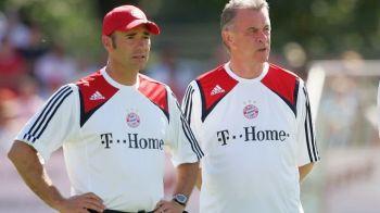 Riccardo Proietti (stânga) alături de Ottmar Hitzfeld, la Bayern Munchen