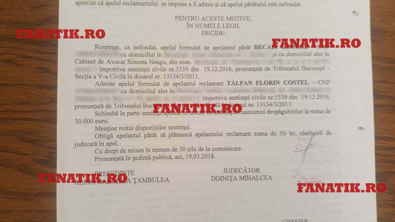 Gigi Becali l-a îmbogăţit pe Florin Talpan