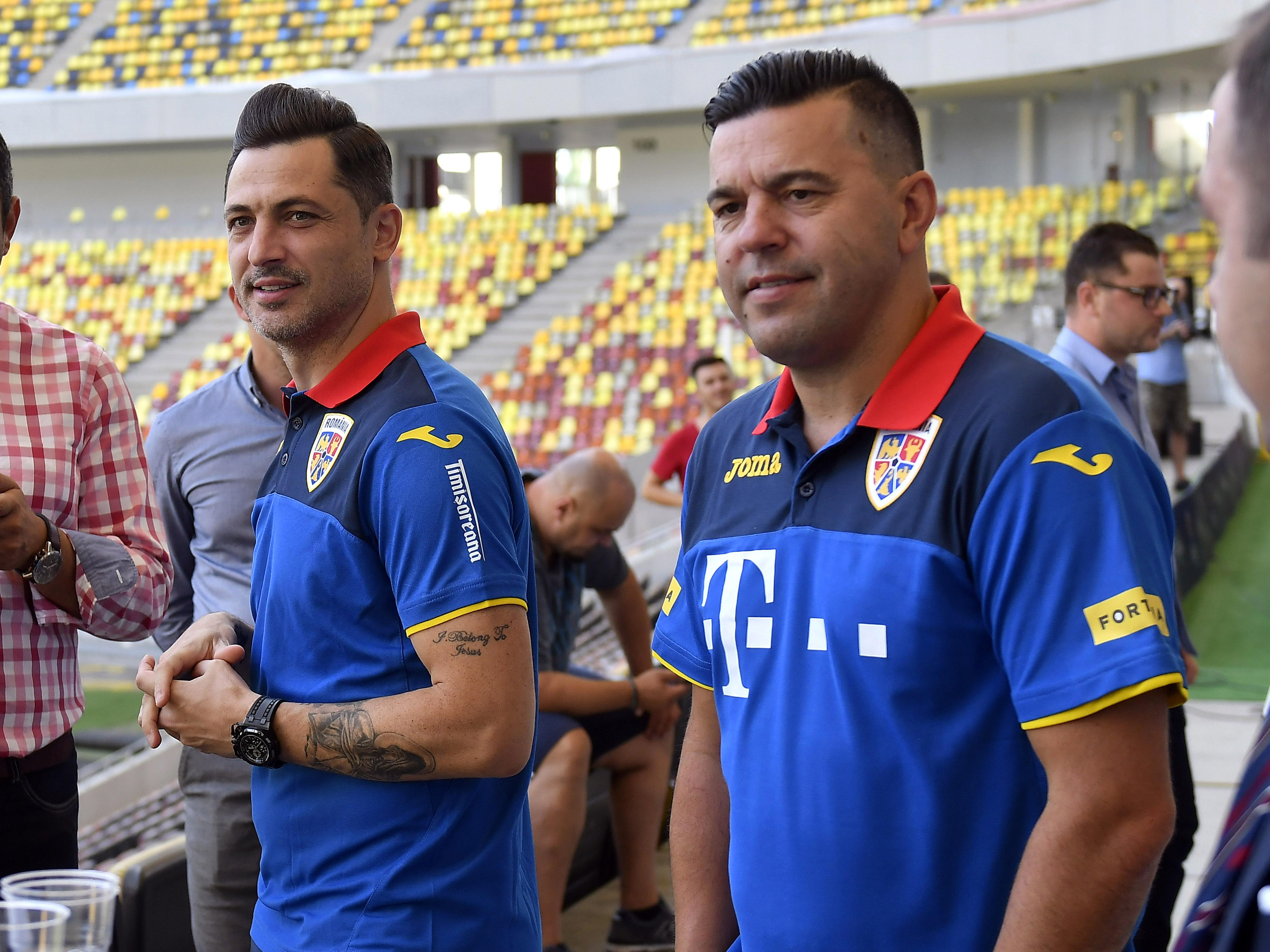 Mirel Rădoi și Cosmin Contra pe Arena Națională. Sursă foto: sportpictures.eu