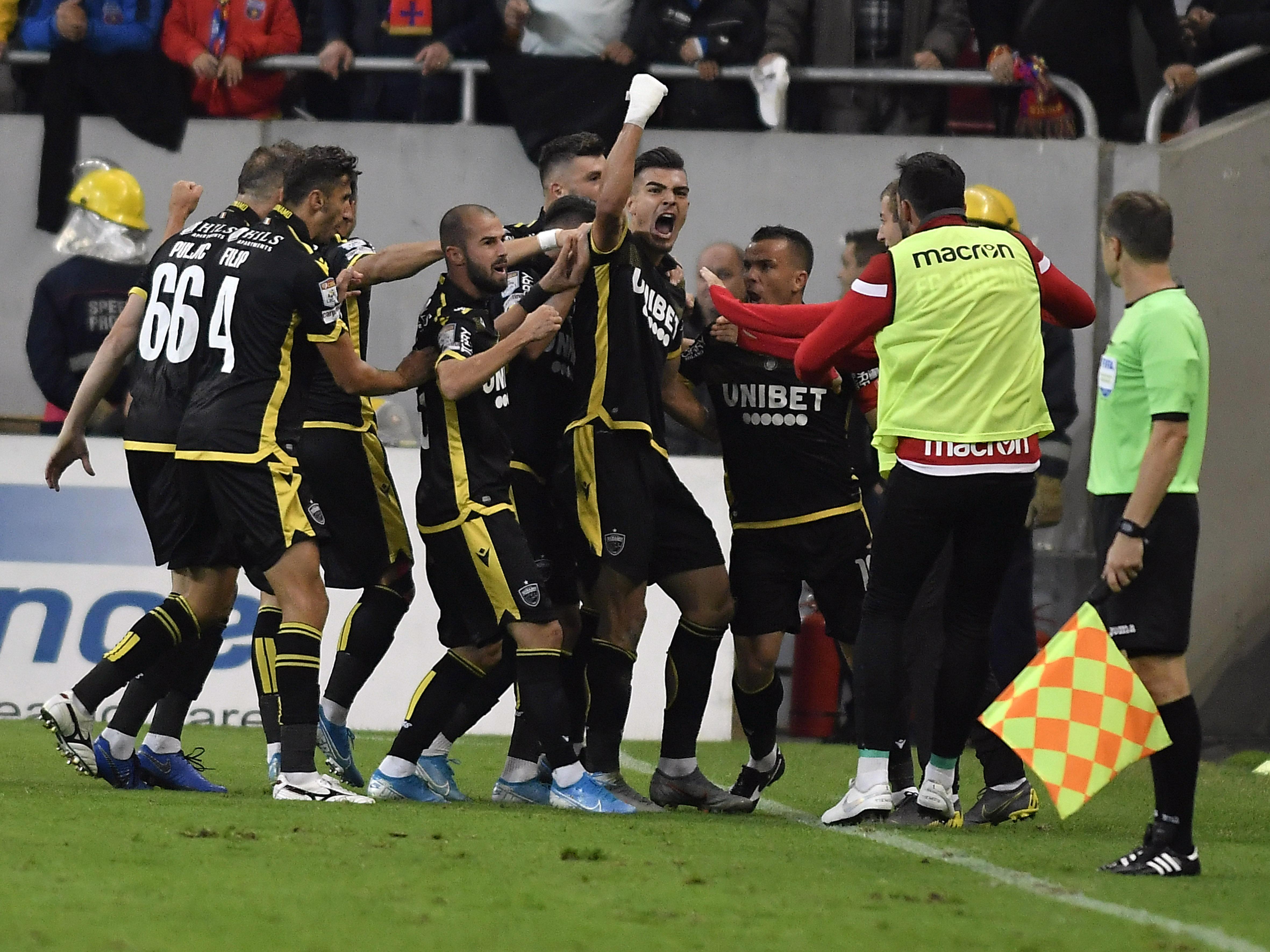 Denis Ciobotariu a marcat în primul derby cu FCSB. Sursă Foto: Sportpictures