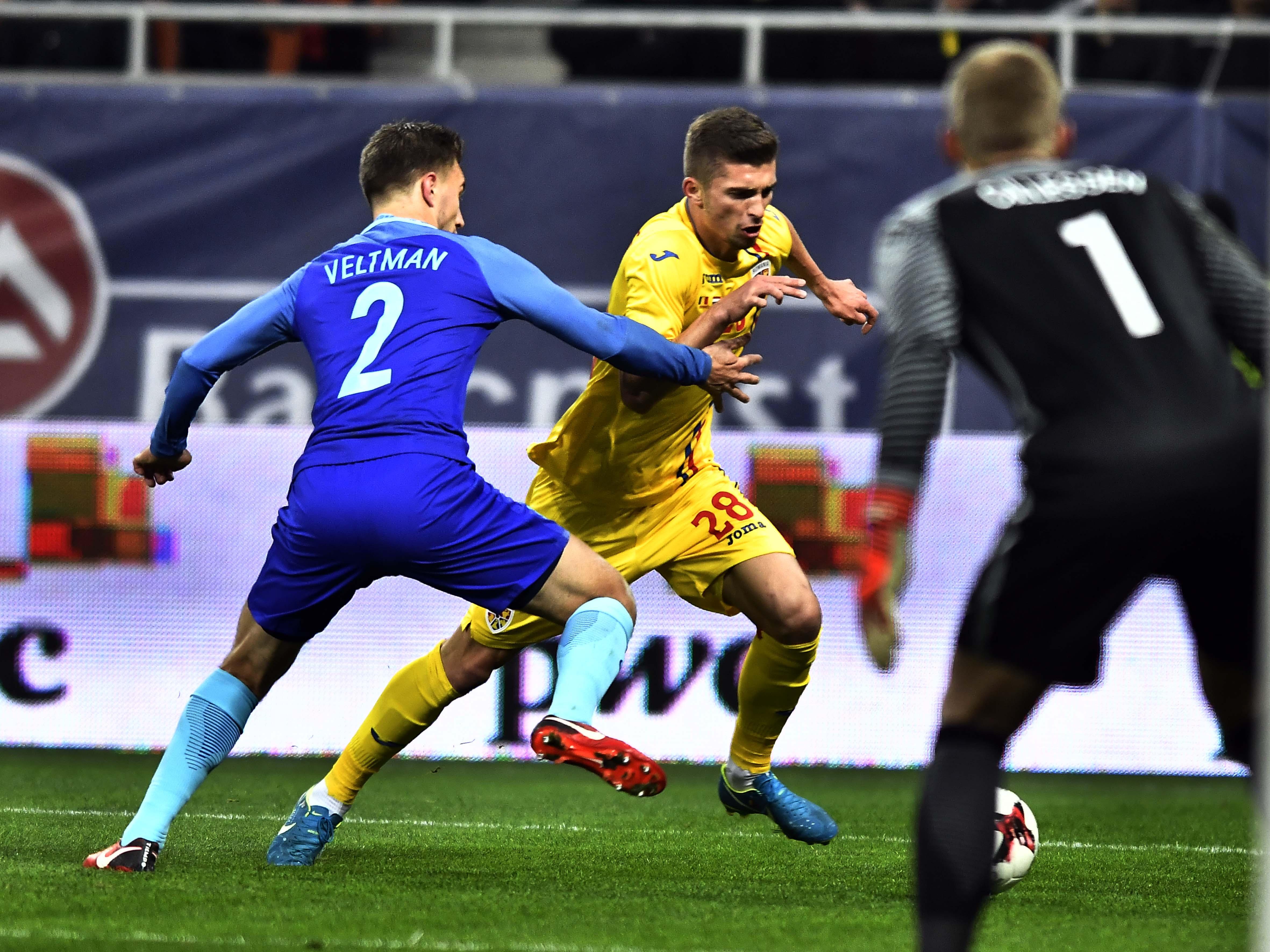 Ultima prezenţă a lui Florin Tănase sub tricolor a fost în România-Olanda 0-3, în 2017. Foto: repressport.eu