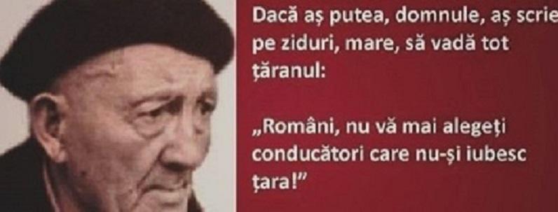 """Petre Țuțea: """"Românilor, nu vă mai alegeți conducătorii care nu-și iubesc țara!"""" De """"auzit"""" pentru cine are urechi și minte să audă!"""