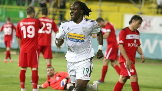 Mike Temwanjera, după un gol marcat în tricoul Vasluiului în Liga 1