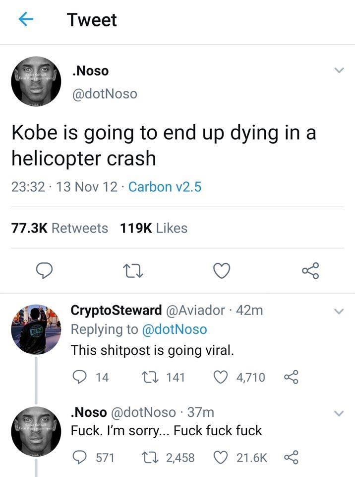 Postarea care a devenit virală după ce Kobe Bryant a murit