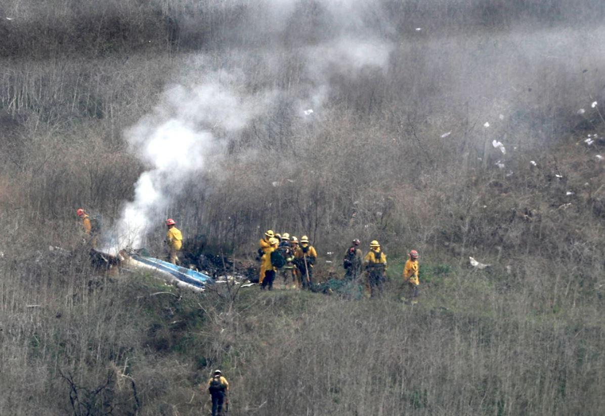 Primele imagini de la locul accidentului în care Kobe Bryant a murit