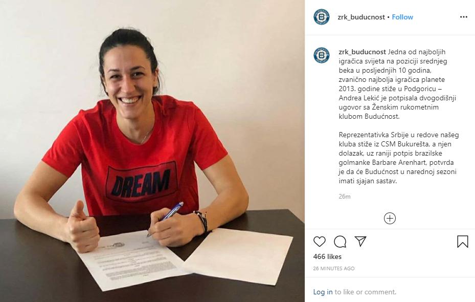 Andrea Lekic a semnat cu Buducnosct. Pierdere importantă pentru CSM Bucureşti. Sorin Tîrcă, pe lista campioanei din Muntenegru. FANATIK confirmat