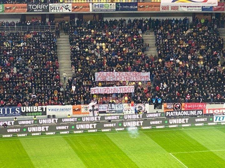Mesaj dur al peluzei Sud Dinamo, împotriva fanilor FCSB